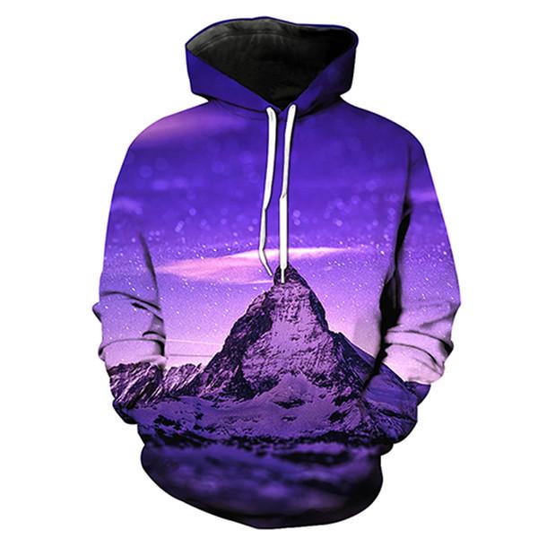 Мужчины балахон Айсберг 3D полный печати человек с капюшоном толстовка мужская повседневная пуловер Толстовки с длинными рукавами кофты цифровой графический топы (RL0657)