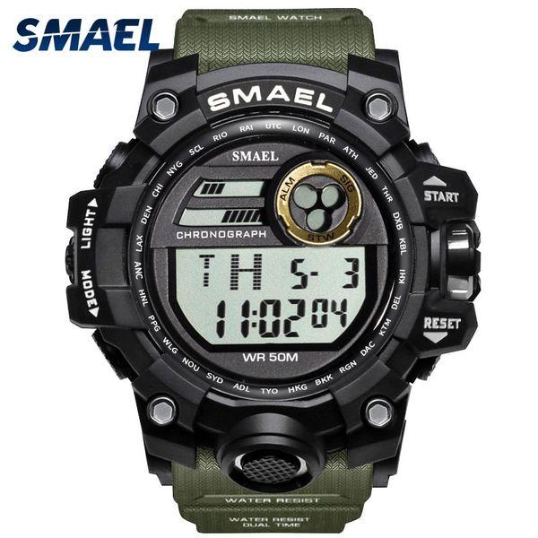 Men Watches Sport  SMAEL S Relojes Hombre Casual LED Clock Digital Wristwatches Waterproof 1545D Sport Watch Alarm