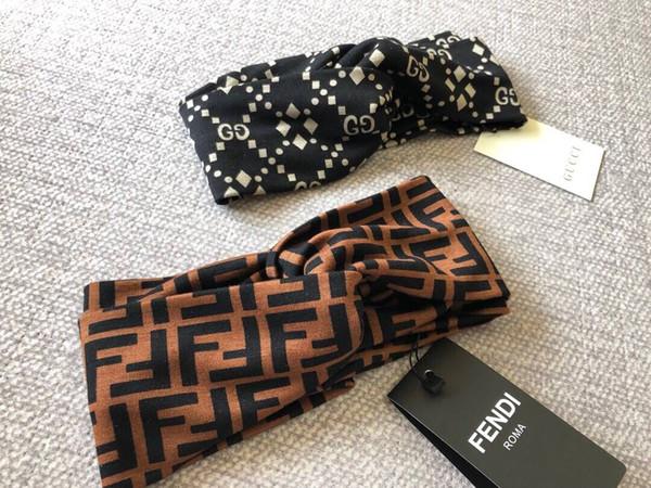 2018 Hot Luxury Brand Women Head Scarf Echarpes Foulards Cachecol Best Quality Designer Elastic Headband Hair Bands for Men and Women