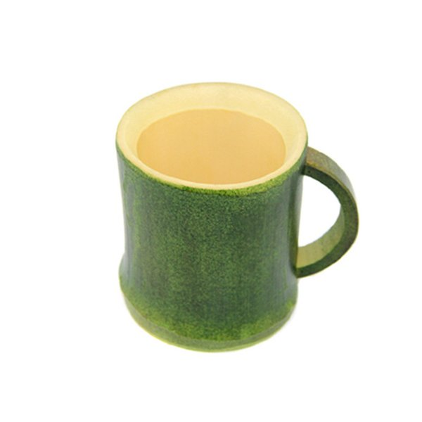 Handmade Natural bamboo tea cup Japanese style beer milk cups with handle green eco-friendly travel crafts home decoration LX0940