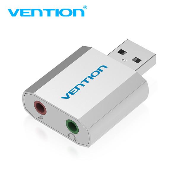 Vention Mini tarjeta de sonido USB externa USB a 3,5 mm Adaptador de auriculares Tarjeta de audio para micrófono altavoz Ordenador portátil PS4 Tarjeta de sonido