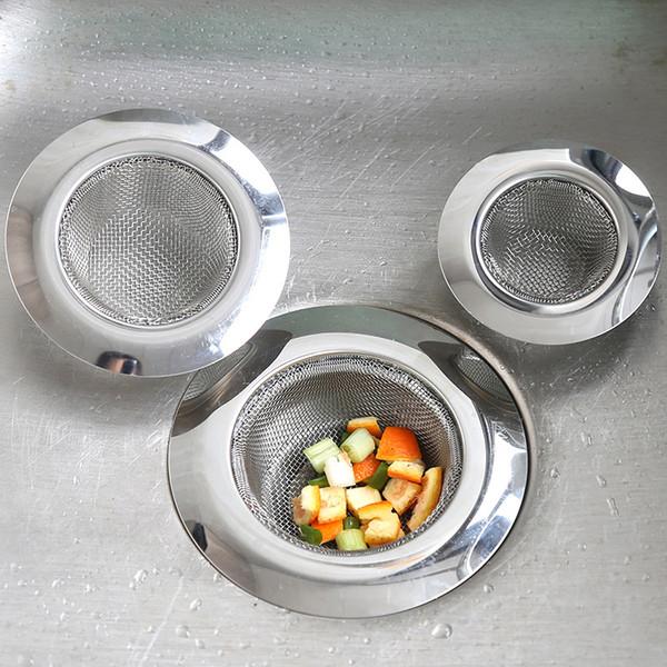 top popular Kitchen Sink Strainer Stainless Steel Drain Filter Wash Basin Strainer Mesh with Large Wide Rim 4.5 2021