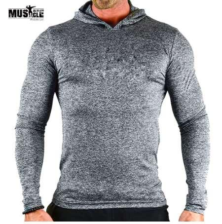 Sweatshirts Hoodies Men Bodybuilding Fitness Workout For Male Brand Clothing Sportswear Slim Fit MUSCLE ALIVE Stretchy Triblend