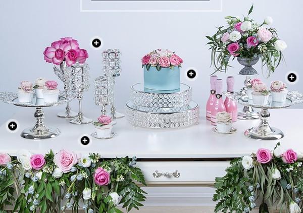 K9 crystal metal cake stand cupcake display pan candy bar table decoration dessert Fruit plate Wedding dessert decoration