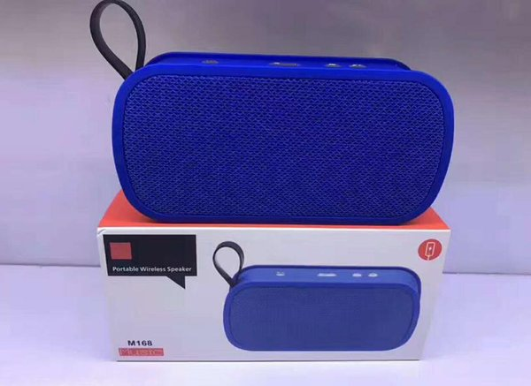 M168 Wireless Bluetooth Portable Mini Speakers Stereo Super Bass Amplifier Sound Box With Mic Handsfree TF USB AUX Slot Mp3 Music Player2018