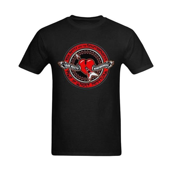 T-shirt in cotone da uomo Tom Petty And The Heartbreakers Design T-Shirt Stampa Tees T-shirt manica corta O-Neck Boy in cotone da uomo