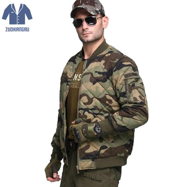 Zuoxiangru Winter Men's Thicken Jacket New Designer Fashion Camouflage Plus Size Thicken Casual Jacket Coat Men Overcoat