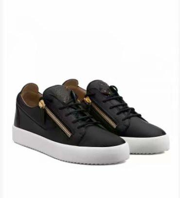 High quality free shipping black crocodile grain leather for men's and women's shoes,high-level fashion sneakers chaoliu 030513796