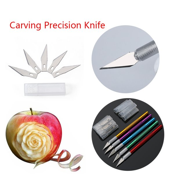 6pc Blades Knife Cake Decorating Tools Fruit Sculpting Gum Paste Carving Pastry Mat Cutting Model Making Baking Tools For Cakes