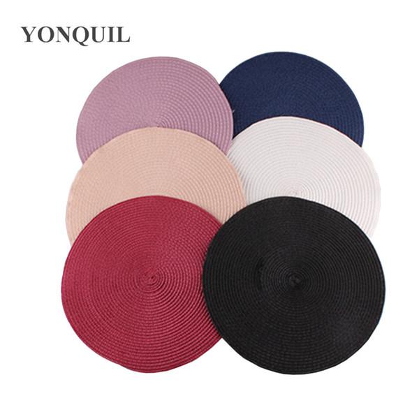 Multiple color women DIY Hair accessories 25 CM round fascinators bases for ladies millinery hat base fascinator 12pcs/lot free ship SYB35