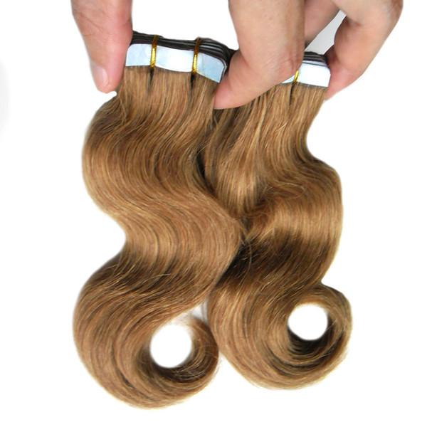 2018 nouvelle extension de cheveux de bande adhésive 40pcs / set rallonges de cheveux Remy Tape 18