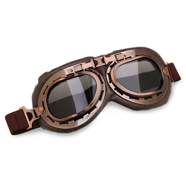 Vintage Pilot Goggles Motorcycle Motocross Goggles Helmets Glasses WWII Aviator Retro Lens For Harley Scooter 6 Colors