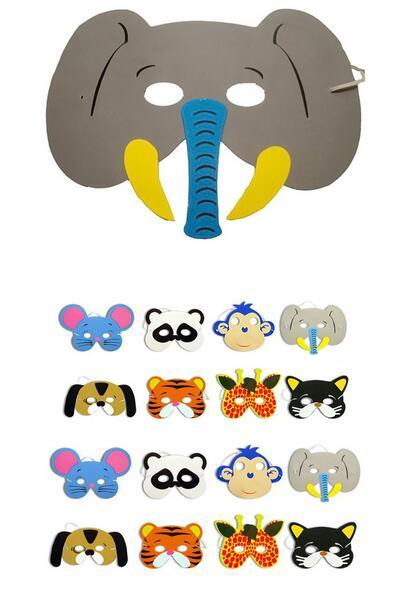 New Festive & Party Supplies EVA Foam Animal Masks for Kids Birthday Party Favors Dress Up Costume Zoo Jungle Party Supplies