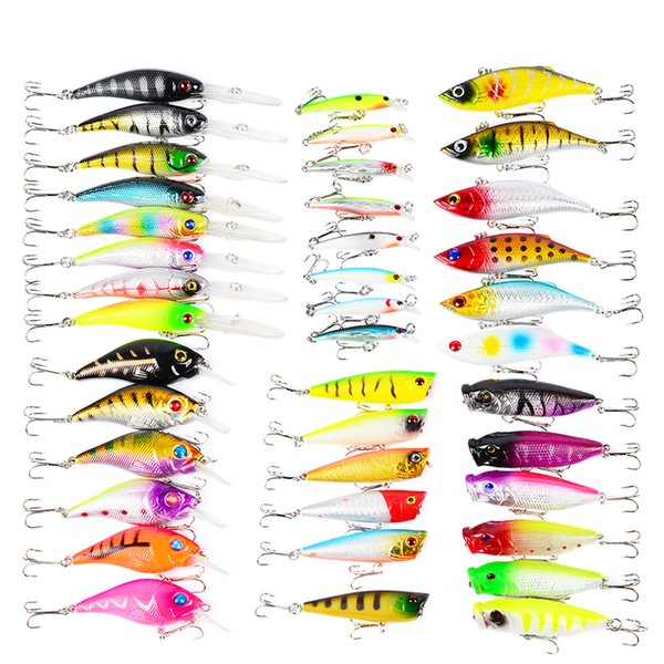 wholesale Proberos 40-Piece Set ABS Plastic Classic Fishing Lures Hard Bait Carp Fishing Pesca Fishing Accessories