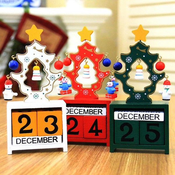 Christmas Decoration For Home Advent Calendar Wooden Calendar Ornaments Christmas Craft Decoration Art Gifts New Year Supplies