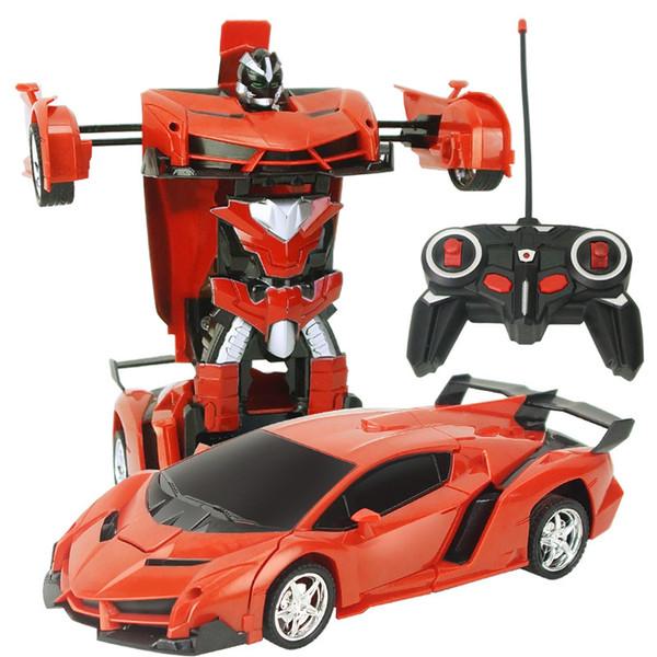 Robot di trasformazione RC Auto Modelli di auto sportive Telecomando Deformazione Automobile RC Robot Giocattoli per bambini Regali di compleanno per bambini giocattoli per bambini
