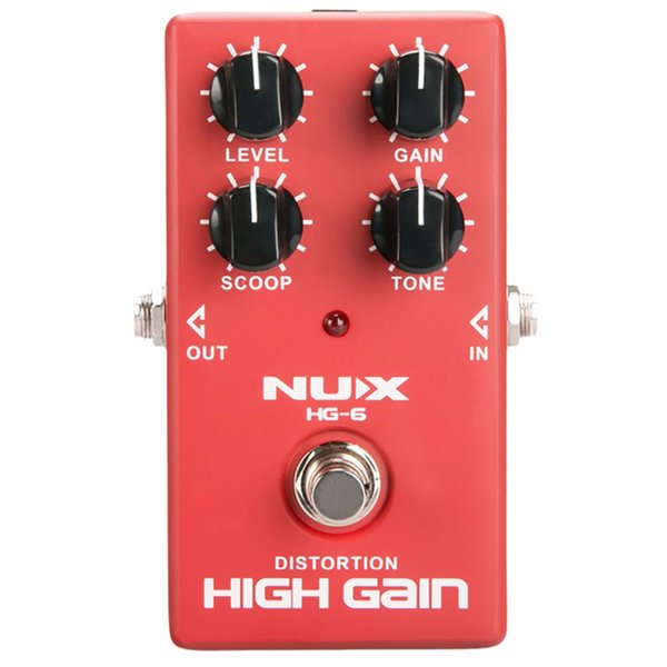 NUX HG-6 Distortion High Gain Electric Guitar Effect Pedal Heavy Metal Rock Style True Bypass effect pedal free shipping