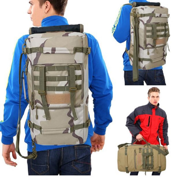 2018 Hot Top Quality 50L New Military Backpack Camping Bags Mountaineering Bag Backpacking Men's Hiking Trekking Rucksack Travel Backpack