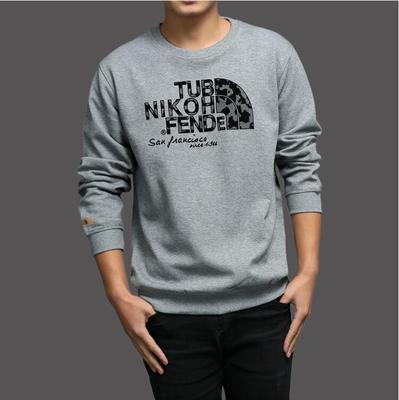 Pure color long sleeve round collar fall sports fleece sets with thick cotton youth add wool coat big yards men's coat