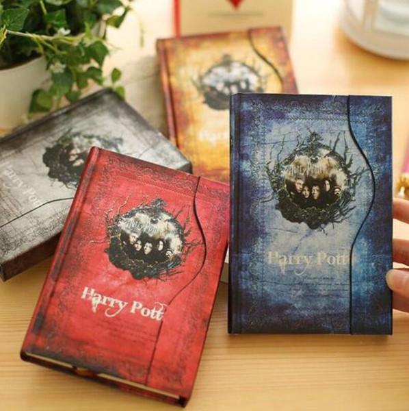 Vintage Harry Potter bloknotlar Retro kağıt Sihirli Günlüğü Kitap Not Defteri Mıknatıs Dizüstü ofis okul tedarikçisi öğrenci kağıt defterler LX4029