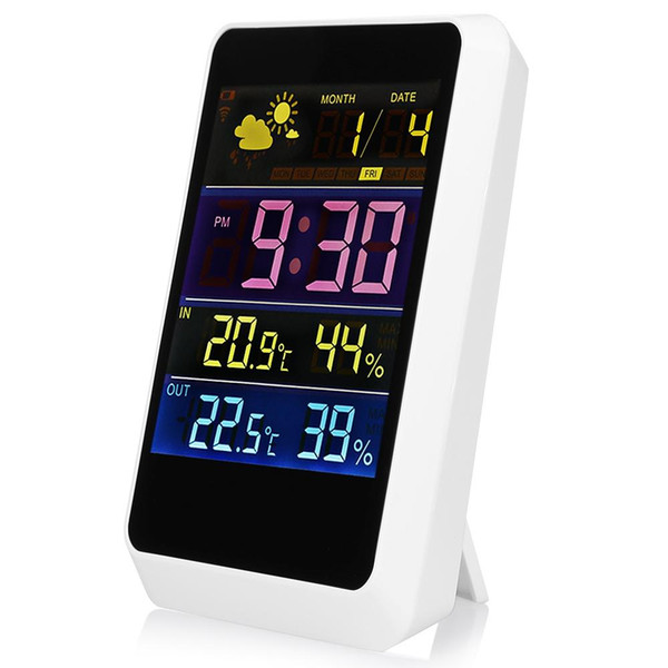 Excelvan Wireless Weather Station Temperature Humidity Sensor Digital Weather Forecast Station Thermometer Calendar Clock Free Shipping NB