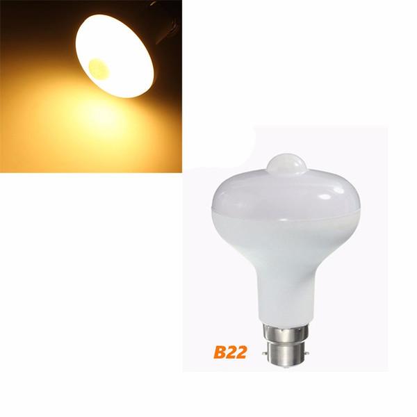 Nuovo E27 / B22 9W 85 ~ 265V 18LED Home Motion Control PIR Sensore luce Lampada Lampadina bianco caldo è bianco tono 4 dimensioni