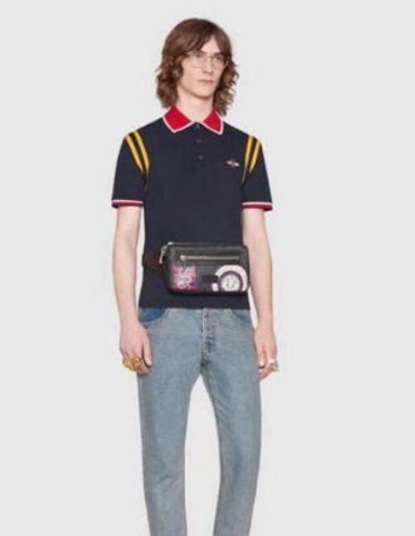 Express Bee Printed Men's Polo Shirt Men Cotton Short Sleeve Polos Classic Jerseys Tops Casual Collar Male Polo Shirts XXXL