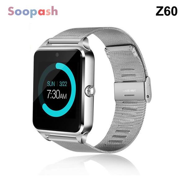 Relógio inteligente Z60 GT09 Homens Mulheres de pulso Smartwatch Suporte SIM / TF Relógio de pulso para o telefone Android PK DZ09
