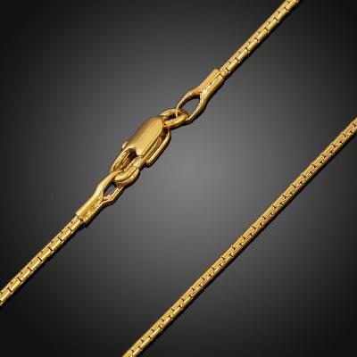 2018 homens da moda / mulheres 18 k banhado a ouro colar de 1mm / 2mm 24 polegada requintado sideways partido cadeia presentes cruz jesus pingente acessórios n289