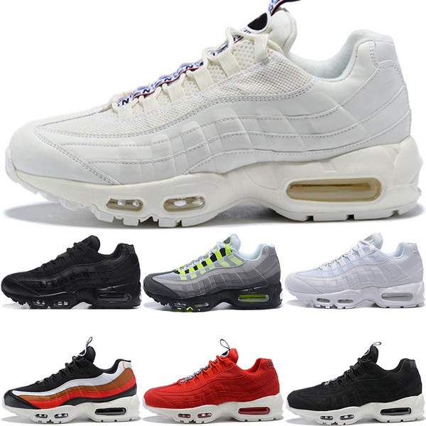New Men Designer 95 Running Shoes OG Grape Neon TT Black Red 95s Mens What The Trainers Sports Sneakers Size 7-11