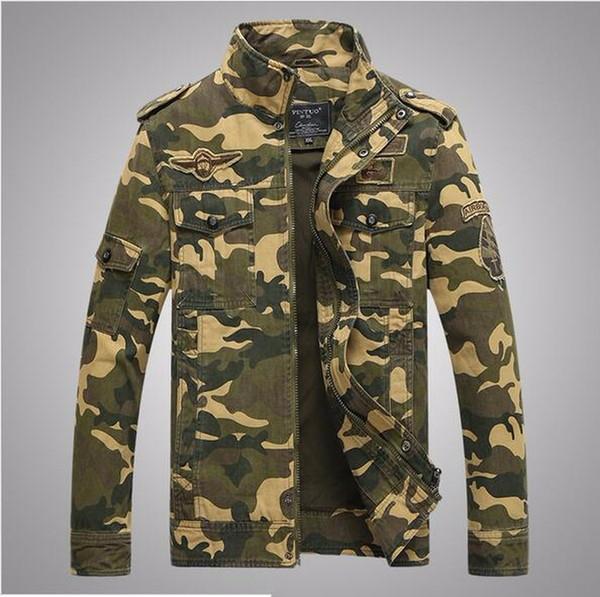 men camouflage jacket coat gentleman style zip large size trench coat for men male army coat jacket