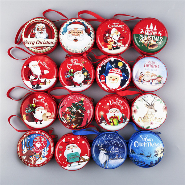 Santa Claus Gift Coin Candy Storage box Pendant Christmas Tree Home Decor New Year Ornaments Xmas Decorations Supplies 62429