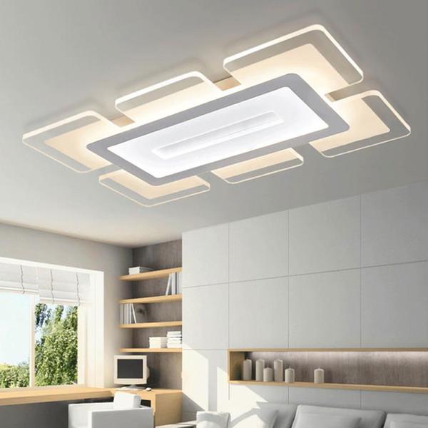 Großhandel LED Ultradünne Acryl Deckenleuchte, 70W 90 * 60cm Rechteckige  Wohnzimmer Deckenleuchte, 40W 52 * 52cm Quadratische LED Deckenleuchte Von  ...