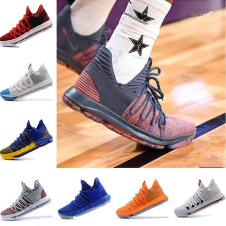 2019 New Arrival Kevin Durant 10 Basketball Shoes Men Kd 10 Gold/Championship MVP Finals Sports Shoes training Sneakers Run Shoes Size 7-12