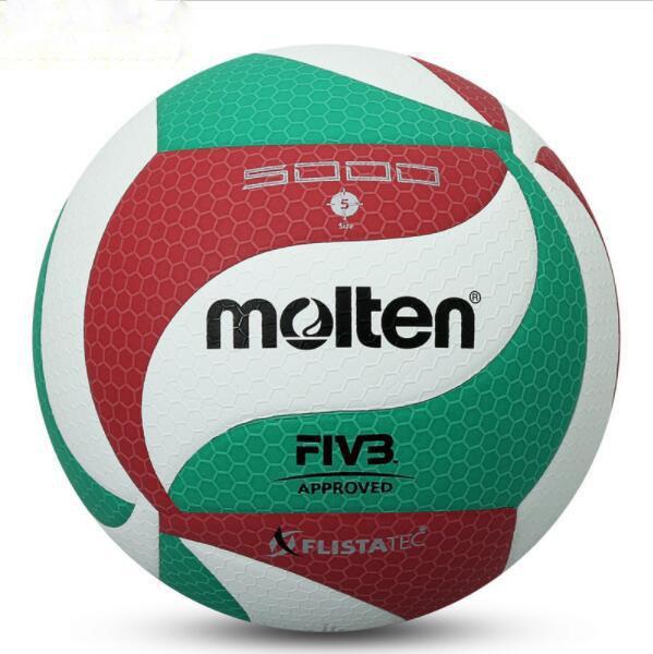 Fundido V5M5000 Tamaño oficial del juego Peso Outdoor Indoor Training Competition Voleibol Balls Beach Handballs voleibol c