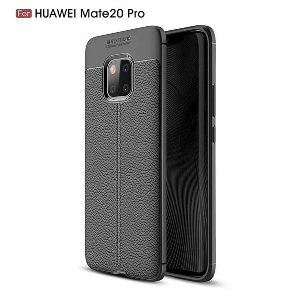 For Huawei Mate 20 Pro Carbon Soft Silicon Matte TPU Bumper Texture Silicone Rugged Protective Protective Cover Funda