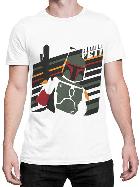 Mens' T-Shirt Boba Fett 100% cotton casual short sleeve men top Quality Cotton