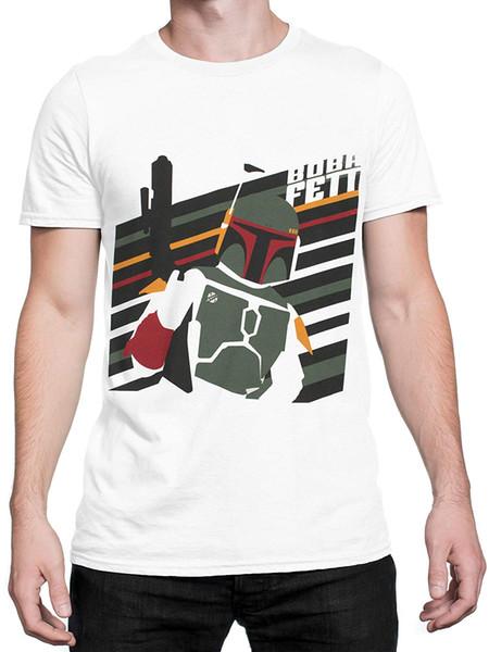 Herren T-Shirt Boba Fett 100% Baumwolle beiläufige kurze Hülse Männer Top-Qualität Baumwolle