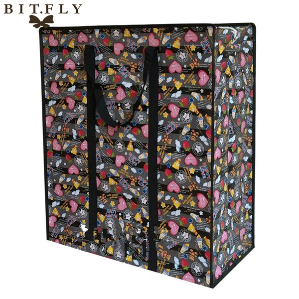 BITFLY Foldable Clothes Bedding Blanket Pillow Quilt Storage Bag Pouch Organizer Box Waterproof Luggage Zipped Handles Bags
