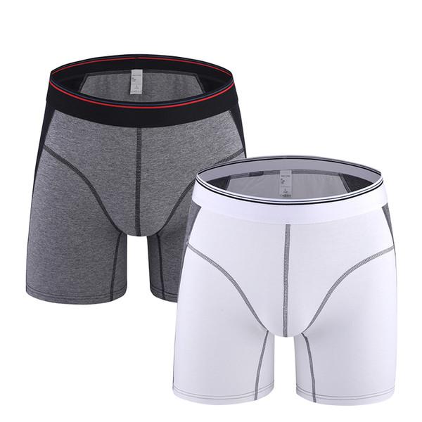 Boxer Solid Cotton Boxer Short Man underwear Silky soft underpants Male Boxer Long Homewear Plus Size