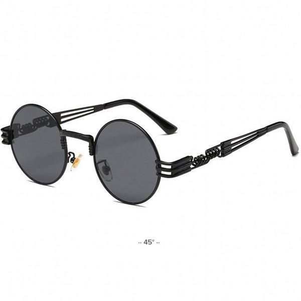 Round Metal Sunglasses Steampunk Men Women Fashion Sun Glasses Brand Designer Retro Vintage Sunglasses Mirror UV400 Eyewear