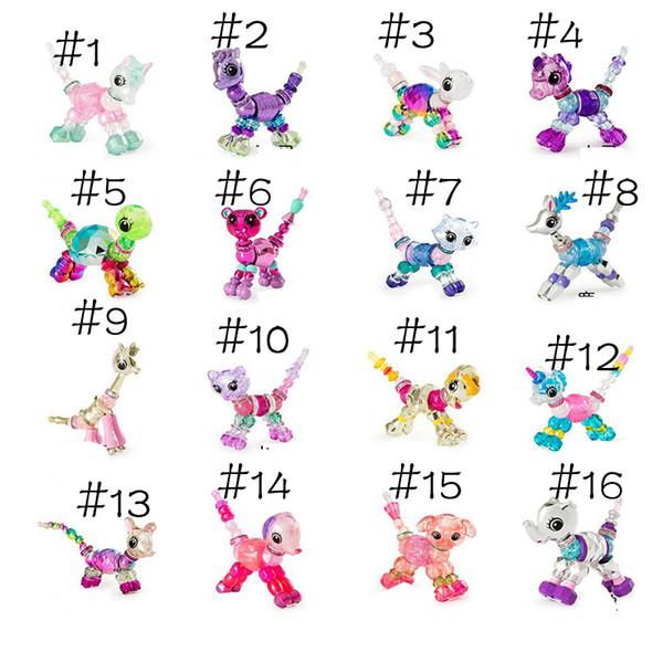 best selling Twisty Pets Magic Bracelet Bunny Unicorn Kitty Dog Lion Make a Bracelet or Twist into a Pet Toys Pet Beads 16 designs