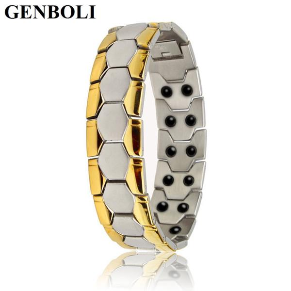 1pcs Magnetic Titanium Bio Energy Bracelet For Men Blood Pressure Health Care Bracelets Burn Fat Fashion Jewelry