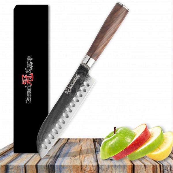 6,8 Zoll Damaskus Steel Kochmesser 67 Schichten Japanese Damascus Steel Japanisches Damaskus-Küchenmesser mit Geschenkbox Grandsharp