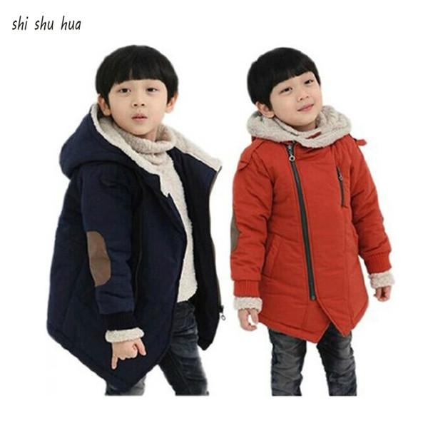 Vestiti del bambino vestiti di cotone cappotto versione coreana del cappotto più caldo cappotto di velluto più caldo con cappuccio ispessimento bambino 3-10 anni