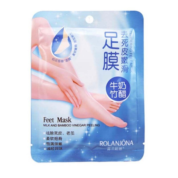 top popular Exfoliating Peel Foot Mask Baby Soft Feet Remove Scrub Callus Hard Dead Skin Feet Mask foot care 2021