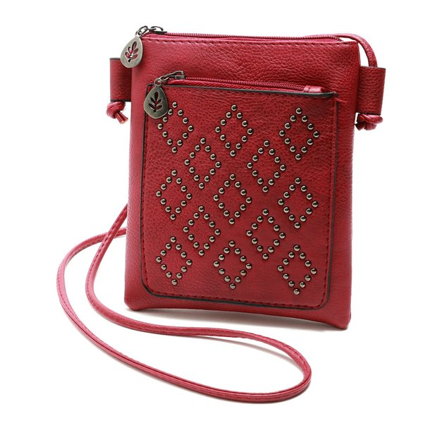 CONEED 2018 Damen Leder Geldbörse Satchel Cross Body String Umhängetasche Messenger Bag Fashion Casual Damen Se27