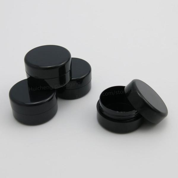 100 х 5 г черный пустой пластиковый косметический кувшин маленький образец макияжа суб-розлива пудра для ногтей чехол