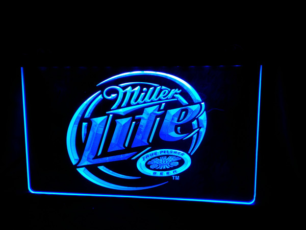 LS498-b- Miller Lite Beer 3D LED Neon Light Sign Customize on Demand 8 colors to choose