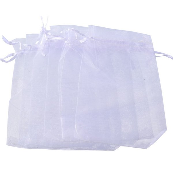 10x15cm Storage Bags White Organza Jewelry Gift Pouch Bags Wedding Favor Cute Makeup Organizer Christmas Gift Bag 100pcs/lot